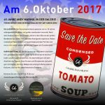 Save the Date - Andy Warhol Jubiläum