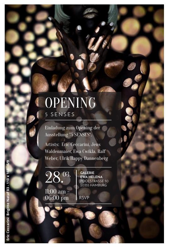 Einladung 5 Senses Opening Galerie Ewa Helena Eric Ceccarini